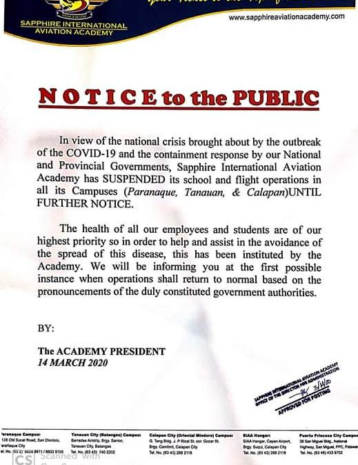 Notice to the public 3142020