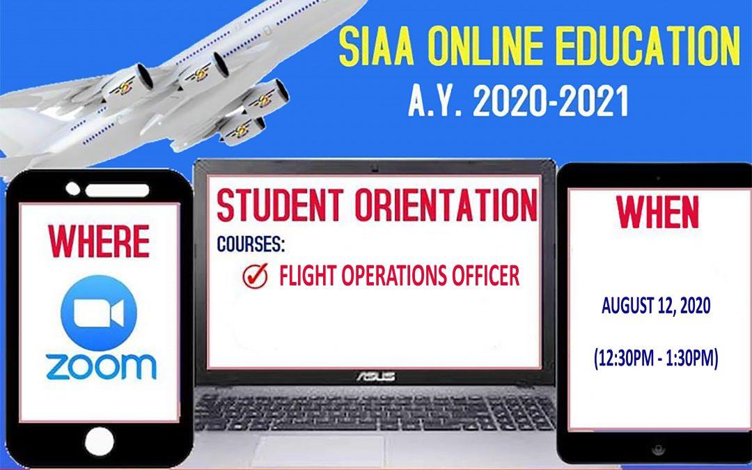 Flight Operations Officer Orientation